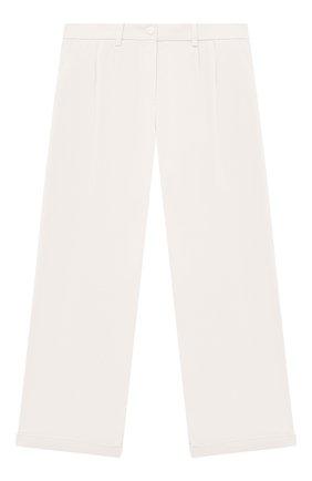 Детские хлопковые брюки LORO PIANA белого цвета, арт. FAL5085 | Фото 1 (Материал внешний: Хлопок; Девочки Кросс-КТ: Брюки-одежда; Ростовка одежда: 10 - 11 лет | 140 - 146см, 12 лет | 152 см, 4 года | 104 см, 6 лет | 116 см, 8 лет | 128 см)