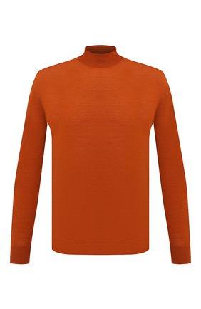 Мужской шерстяная водолазка LORO PIANA оранжевого цвета, арт. FAI8084 | Фото 1