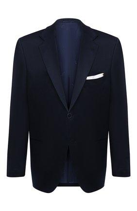Мужской хлопковый пиджак KITON темно-синего цвета, арт. UG81H07609/60-70 | Фото 1