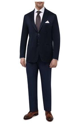 Мужской хлопковый пиджак KITON темно-синего цвета, арт. UG81H07609/60-70 | Фото 2