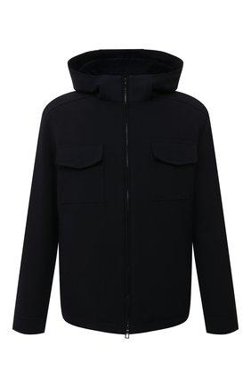 Мужская шерстяная куртка с меховой подкладкой LORO PIANA темно-синего цвета, арт. FAL6161 | Фото 1