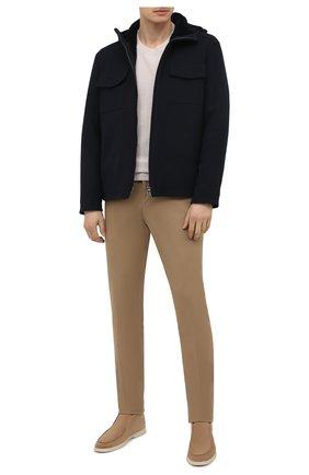 Мужская шерстяная куртка с меховой подкладкой LORO PIANA темно-синего цвета, арт. FAL6161 | Фото 2