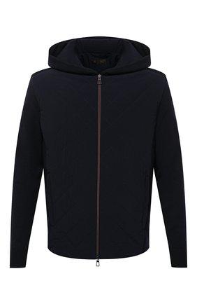 Мужская утепленная куртка LORO PIANA темно-синего цвета, арт. FAL5182 | Фото 1
