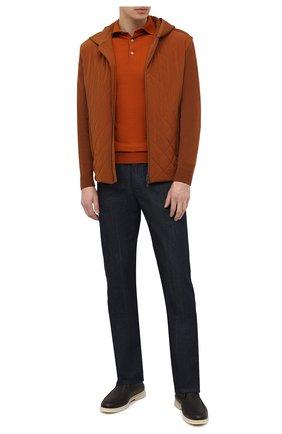 Мужская утепленная куртка LORO PIANA коричневого цвета, арт. FAL5182   Фото 2 (Материал внешний: Синтетический материал; Длина (верхняя одежда): Короткие; Стили: Кэжуэл; Рукава: Длинные; Кросс-КТ: Ветровка, Куртка; Материал подклада: Синтетический материал)