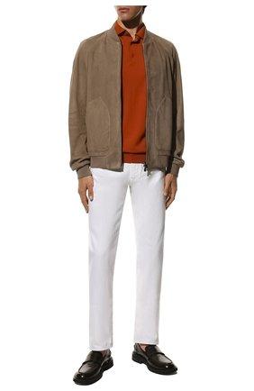 Мужское шерстяное поло LORO PIANA оранжевого цвета, арт. FAI2551 | Фото 2