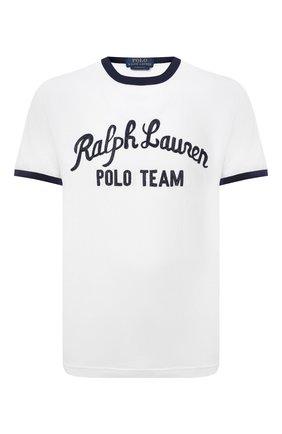 Мужская хлопковая футболка POLO RALPH LAUREN белого цвета, арт. 710836747 | Фото 1