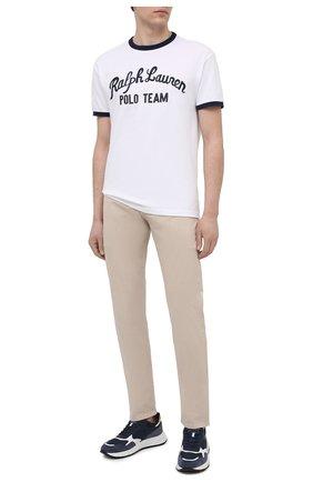 Мужская хлопковая футболка POLO RALPH LAUREN белого цвета, арт. 710836747 | Фото 2