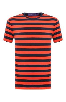 Мужская хлопковая футболка RALPH LAUREN оранжевого цвета, арт. 790775617   Фото 1