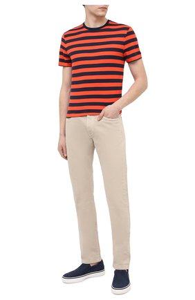 Мужская хлопковая футболка RALPH LAUREN оранжевого цвета, арт. 790775617   Фото 2