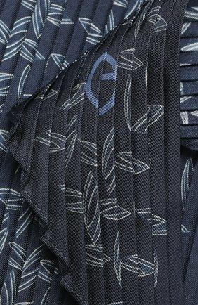 Мужской шелковый шарф GIORGIO ARMANI темно-синего цвета, арт. 745106/1P106 | Фото 2
