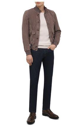 Мужские кожаные дерби TOD'S коричневого цвета, арт. XXM62C00C10D9C | Фото 2