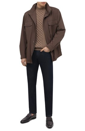 Мужские кожаные лоферы TOD'S темно-серого цвета, арт. XXM51B0EB00D9C   Фото 2 (Мужское Кросс-КТ: Лоферы-обувь; Стили: Классический; Материал внутренний: Натуральная кожа)