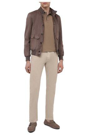 Мужские кожаные мокасины TOD'S светло-коричневого цвета, арт. XXM42C0CV806RN   Фото 2