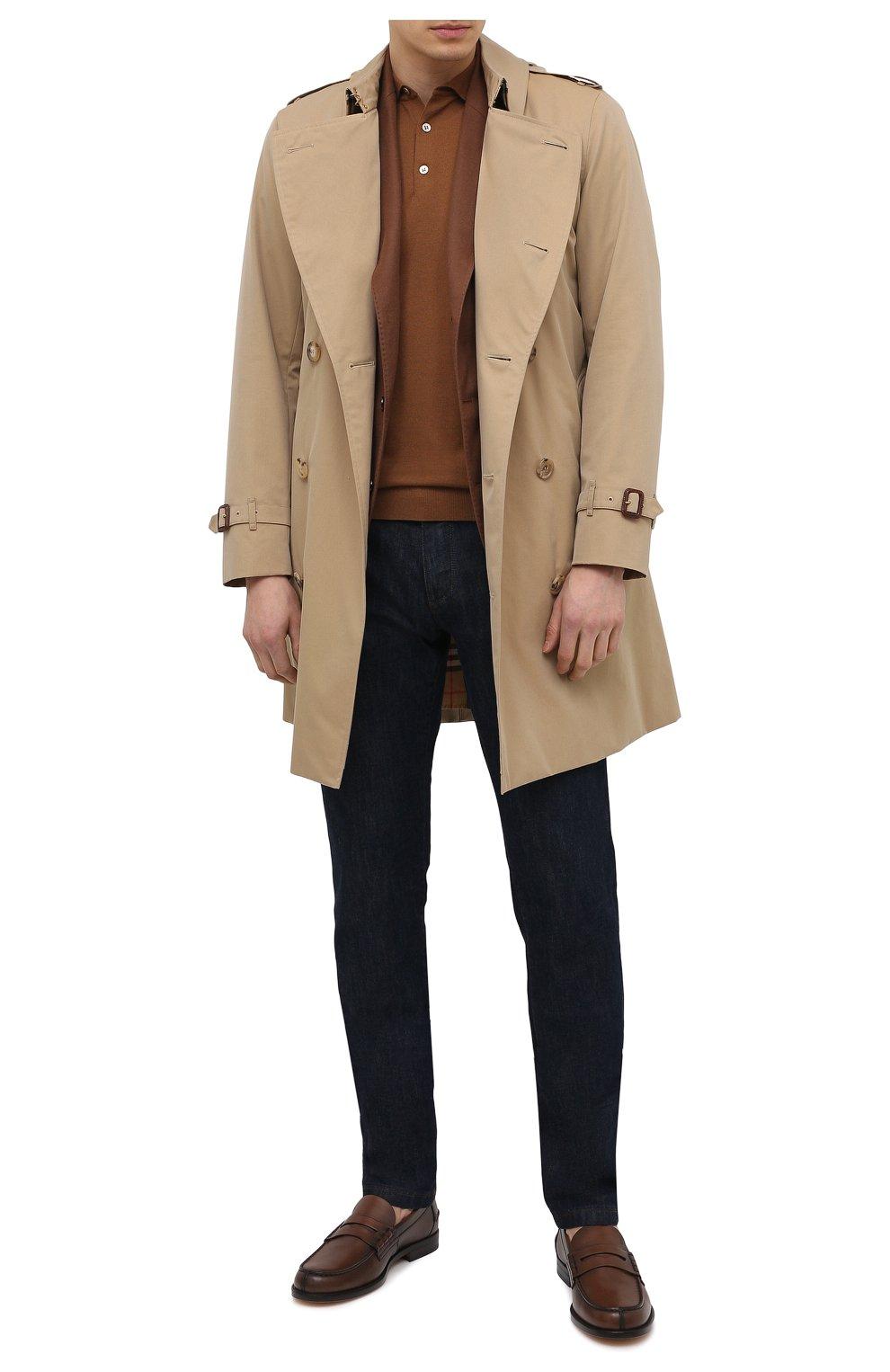 Мужские кожаные пенни-лоферы TOD'S коричневого цвета, арт. XXM26C0C050D9C   Фото 2 (Мужское Кросс-КТ: Лоферы-обувь; Материал внутренний: Натуральная кожа; Стили: Классический)