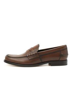 Мужские кожаные пенни-лоферы TOD'S коричневого цвета, арт. XXM26C0C050D9C   Фото 3 (Мужское Кросс-КТ: Лоферы-обувь; Материал внутренний: Натуральная кожа; Стили: Классический)
