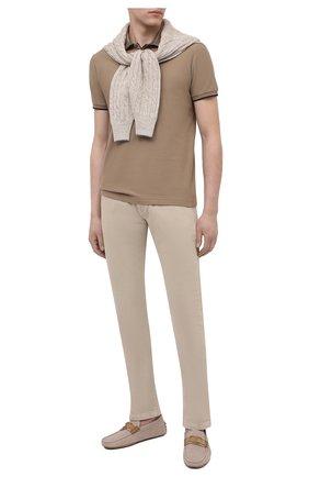 Мужские текстильные мокасины TOD'S светло-бежевого цвета, арт. XXM0GW0ED30PWQ | Фото 2