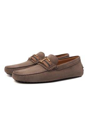 Мужские кожаные мокасины TOD'S светло-коричневого цвета, арт. XXM0GW0CT566RN   Фото 1