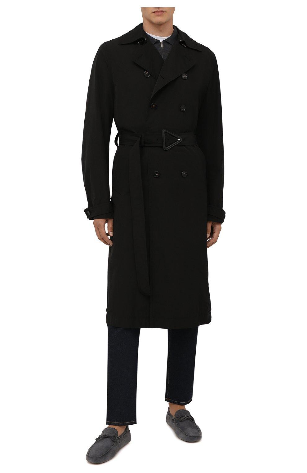 Мужские замшевые мокасины TOD'S серого цвета, арт. XXM0GW05470RE0 | Фото 2 (Материал внутренний: Натуральная кожа; Материал внешний: Замша; Стили: Кэжуэл)