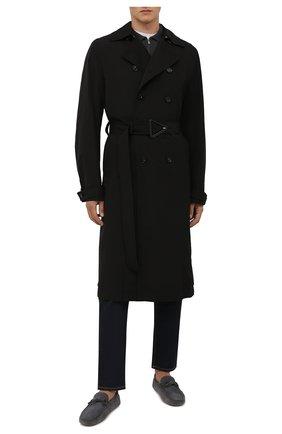 Мужские замшевые мокасины TOD'S серого цвета, арт. XXM0GW05470RE0 | Фото 2