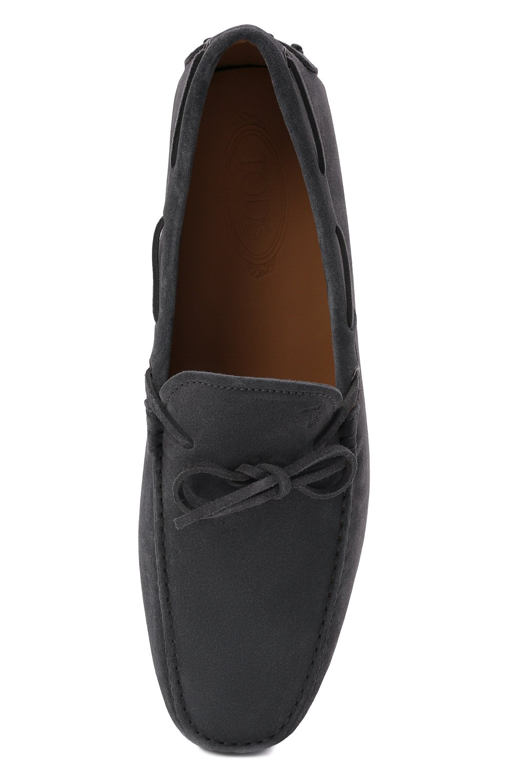 Мужские замшевые мокасины TOD'S серого цвета, арт. XXM0GW05470RE0 | Фото 5 (Материал внутренний: Натуральная кожа; Материал внешний: Замша; Стили: Кэжуэл)