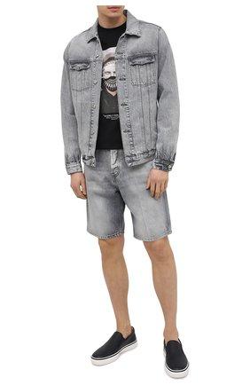 Мужские кожаные слипоны TOD'S темно-синего цвета, арт. XXM03E0EB50EK0 | Фото 2 (Материал внутренний: Натуральная кожа; Стили: Кэжуэл)