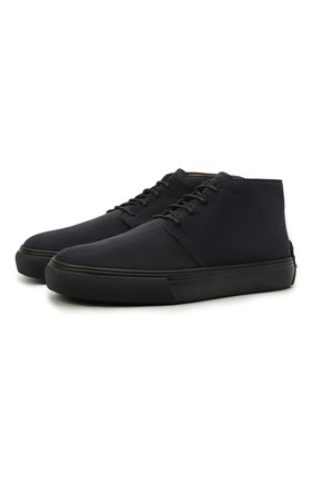 Мужские замшевые ботинки TOD'S темно-синего цвета, арт. XXM03E0EA50RE0 | Фото 1