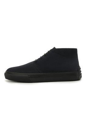 Мужские замшевые ботинки TOD'S темно-синего цвета, арт. XXM03E0EA50RE0 | Фото 3 (Мужское Кросс-КТ: Ботинки-обувь; Материал внутренний: Натуральная кожа; Подошва: Массивная; Материал внешний: Замша)