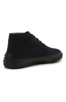 Мужские замшевые ботинки TOD'S темно-синего цвета, арт. XXM03E0EA50RE0 | Фото 4 (Мужское Кросс-КТ: Ботинки-обувь; Материал внутренний: Натуральная кожа; Подошва: Массивная; Материал внешний: Замша)