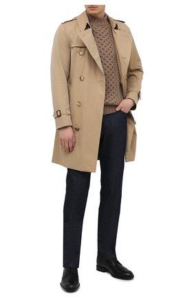 Мужские кожаные дерби TOD'S черного цвета, арт. XXM01E00530D90 | Фото 2