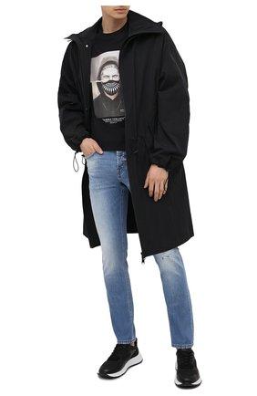 Мужские комбинированные кроссовки HOGAN черного цвета, арт. HXM5630DM90PJW | Фото 2
