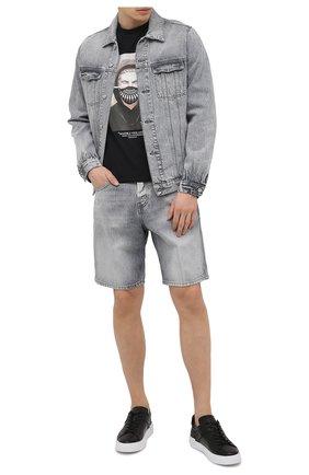 Мужские кожаные кеды HOGAN черного цвета, арт. HXM5260CW00LE9 | Фото 2