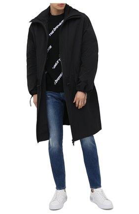 Мужские кожаные кеды HOGAN белого цвета, арт. HXM5260CW00LE9   Фото 2