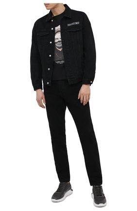 Мужские комбинированные кроссовки HOGAN серого цвета, арт. HXM3710AJ18PFS | Фото 2