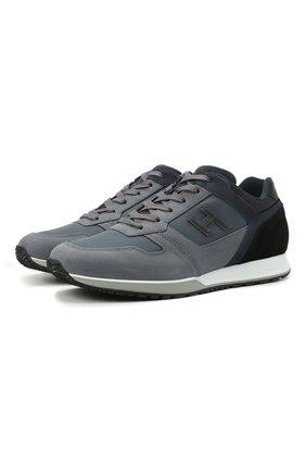Мужские комбинированные кроссовки HOGAN синего цвета, арт. HXM3210Y860P9S | Фото 1
