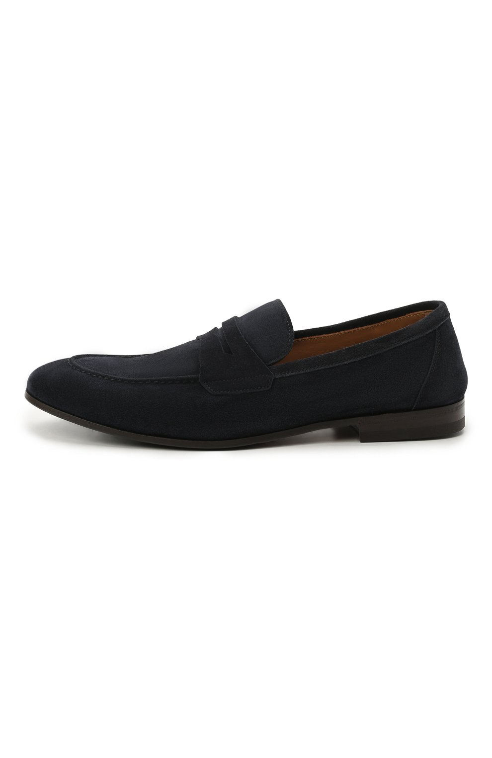 Мужские замшевые пенни-лоферы H`D`S`N BARACCO темно-синего цвета, арт. 71402.S.0* | Фото 3 (Мужское Кросс-КТ: Лоферы-обувь; Материал внутренний: Натуральная кожа; Материал внешний: Замша; Стили: Кэжуэл)
