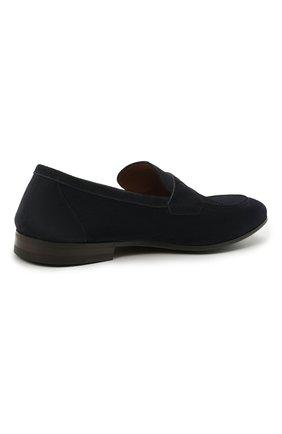 Мужские замшевые пенни-лоферы H`D`S`N BARACCO темно-синего цвета, арт. 71402.S.0* | Фото 4 (Мужское Кросс-КТ: Лоферы-обувь; Материал внутренний: Натуральная кожа; Материал внешний: Замша; Стили: Кэжуэл)