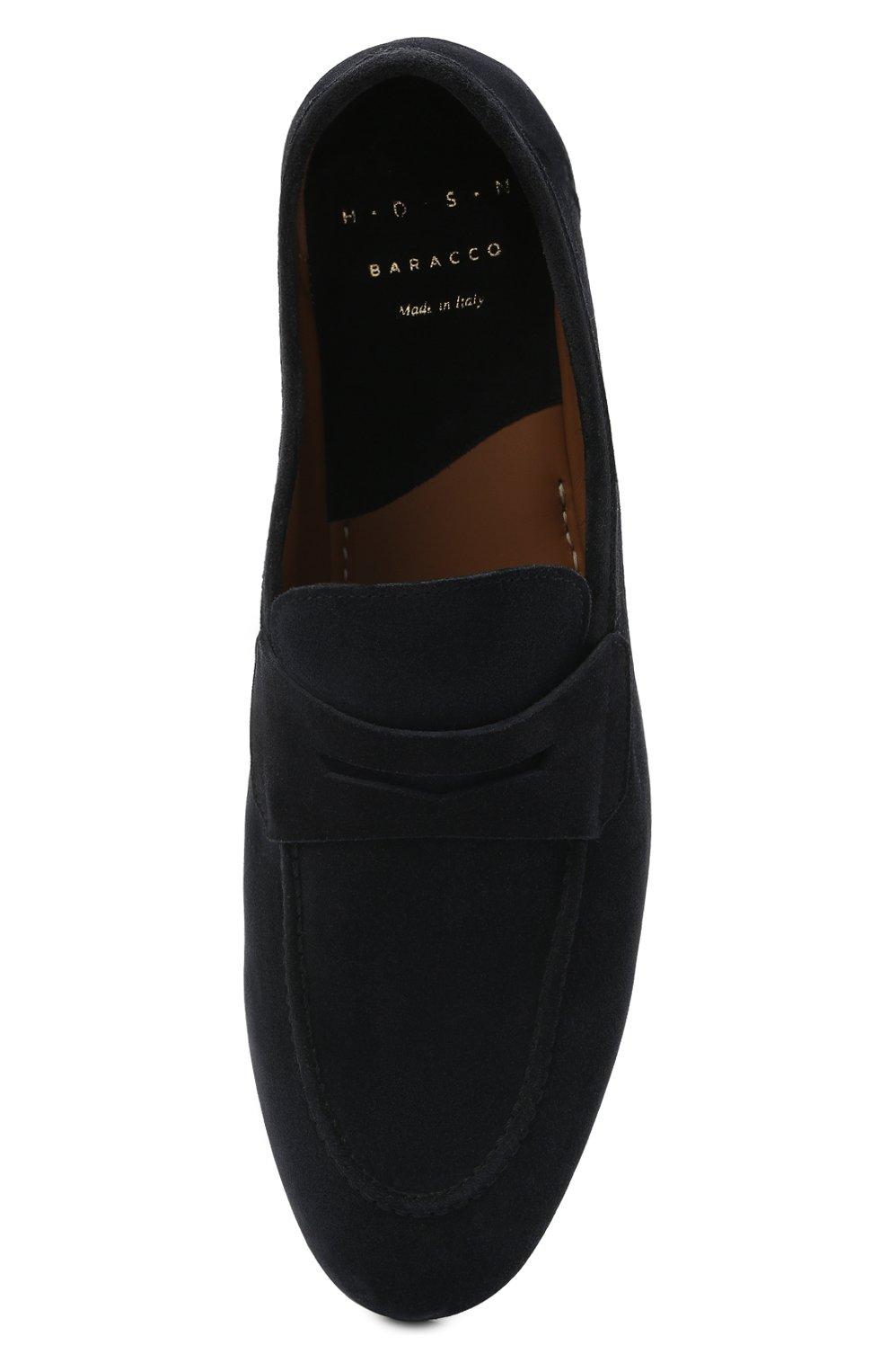 Мужские замшевые пенни-лоферы H`D`S`N BARACCO темно-синего цвета, арт. 71402.S.0* | Фото 5 (Мужское Кросс-КТ: Лоферы-обувь; Материал внутренний: Натуральная кожа; Материал внешний: Замша; Стили: Кэжуэл)