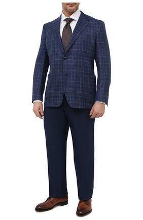 Мужской пиджак из шерсти и шелка CANALI темно-синего цвета, арт. 21288/CF01079/116/60-64   Фото 2