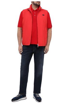 Мужское хлопковое поло PAUL&SHARK красного цвета, арт. 21411237/C00/3XL-6XL | Фото 2