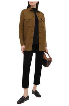 Женские кожаные лоферы TOD'S черного цвета, арт. XXW79A0CX60G0C | Фото 2