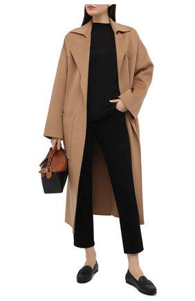 Женские кожаные мокасины TOD'S черного цвета, арт. XXW74B00010TJS | Фото 2
