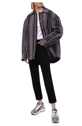Женские комбинированные кроссовки TOD'S серого цвета, арт. XXW54C0DP50PVK | Фото 2