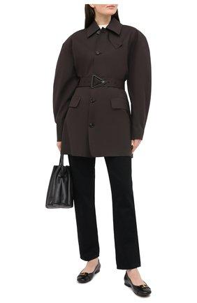 Женские кожаные балетки TOD'S черного цвета, арт. XXW06D0DZ61BSS | Фото 2