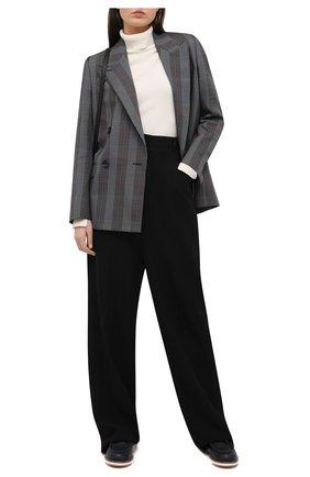 Женская кожаные дерби TOD'S черного цвета, арт. XXW05E0EB70EK0 | Фото 2