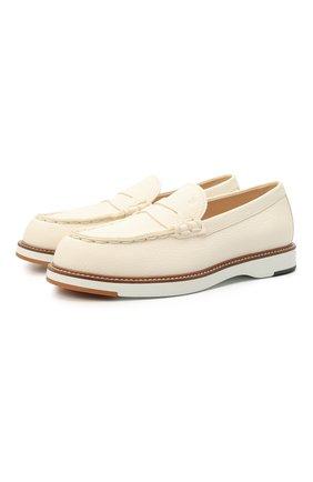 Женские кожаные пенни-лоферы TOD'S белого цвета, арт. XXW05E0EB60EK0 | Фото 1