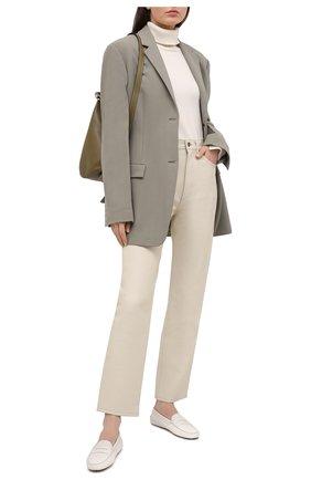 Женские кожаные мокасины TOD'S белого цвета, арт. XXW00G000105J1 | Фото 2