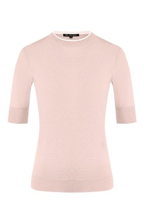 Женский пуловер из кашемира и шелка LORO PIANA розового цвета, арт. FAI8995 | Фото 1