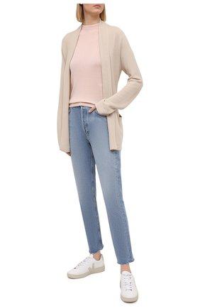 Женский пуловер из кашемира и шелка LORO PIANA розового цвета, арт. FAI8995 | Фото 2