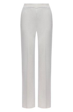 Женские брюки из кашемира и шелка LORO PIANA светло-серого цвета, арт. FAL2062 | Фото 1