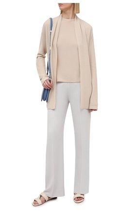 Женские брюки из кашемира и шелка LORO PIANA светло-серого цвета, арт. FAL2062 | Фото 2